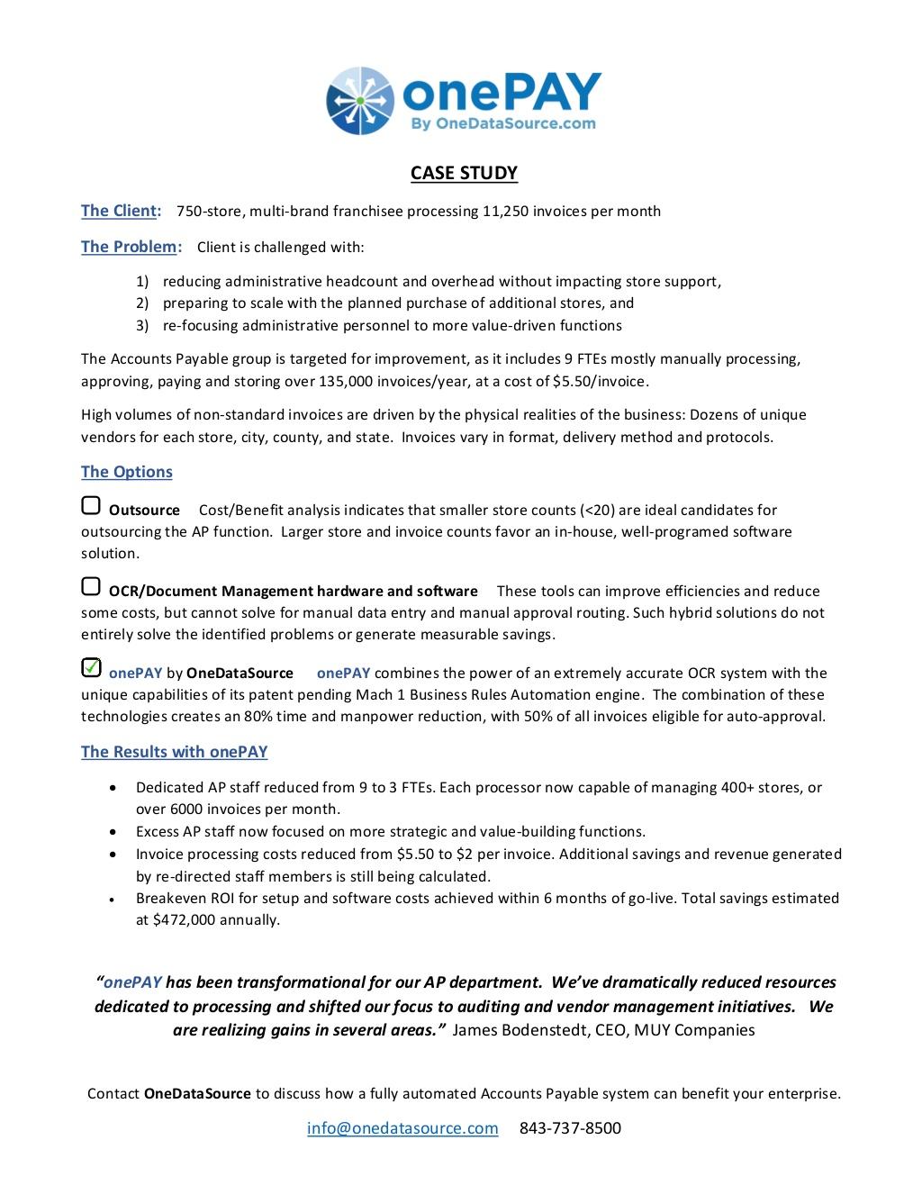 ODS Case Study